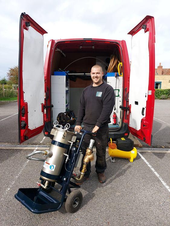 Joe with fuel polishing machine